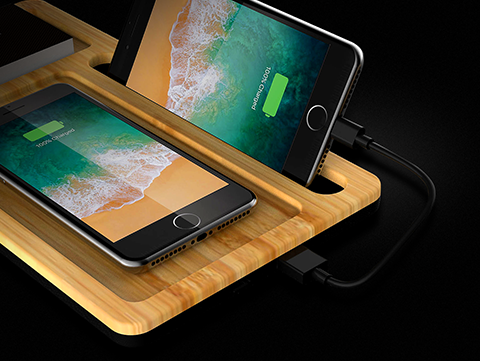 Wireless Charger Desktop Organizer
